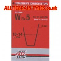 W5 Tip-Top Tyre Regrooving Blades 10-14mm Wide 16mm Deep (20)