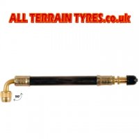 Flexible Rubber Tyre Valve Extension - 180mm, 90' Bend