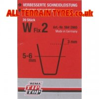 W2 Tip-Top Tyre Regrooving Blades 5-6mm Wide 8mm Deep (20)