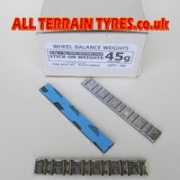 Lead Adhesive Weights For Motorcycles - 45g Strips (50)