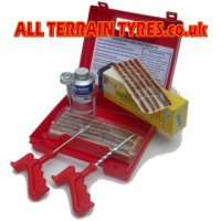Brown Tyre Repair Cord Cab-Kit Toolbox