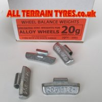Uncoated Alloy Wheel Balance Weights - 30g (100)