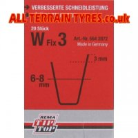 W3 Tip-Top Tyre Regrooving Blades 6-8mm Wide 10mm Deep (20)