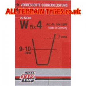 Rema Tip Top German made Tyre Regroover Cutting Blades W3 6-8mm Pack Of 20