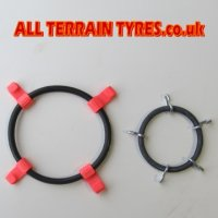 15X6.00-6 Pair of Snow Chains c/w Tensioner & Extender Kits
