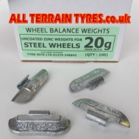 Standard Steel Wheel Balance Weights - 5g (100)