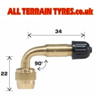 90 Degree Brass Bent Valve Extension
