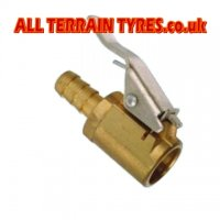 Brass Clip-On Tyre Valve Connector - Large Bore Valves