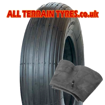 3.50-8 2 Ply Block Tread Wheelbarrow Tyre & Tube From £6.90 - Click Image to Close